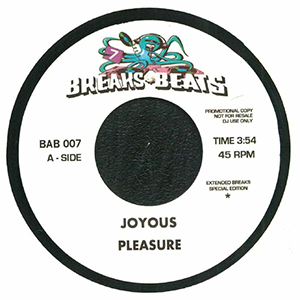 JOYOUS - EXTENDED BREAKS SPECIAL EDITION (7 inch)