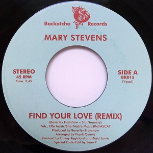 FIND YOUR LOVE - BOYD JARVIS & TIMMY REGISFORD REMIX (7 inch)