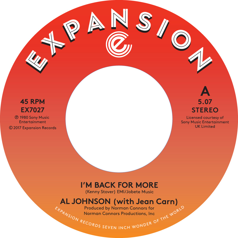 I'M BACK FOR MORE (with JEAN CARN) (7 inch)