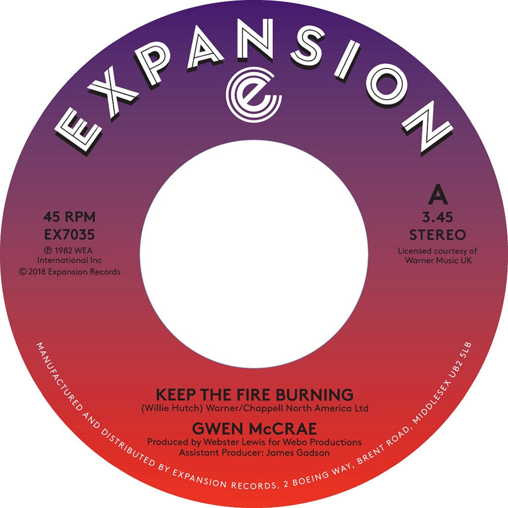 KEEP THE FIRE BURNING (7 inch)
