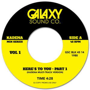 HERE'S TO YOU (KADENA MULTI TRACK MIXES) (7 inch)