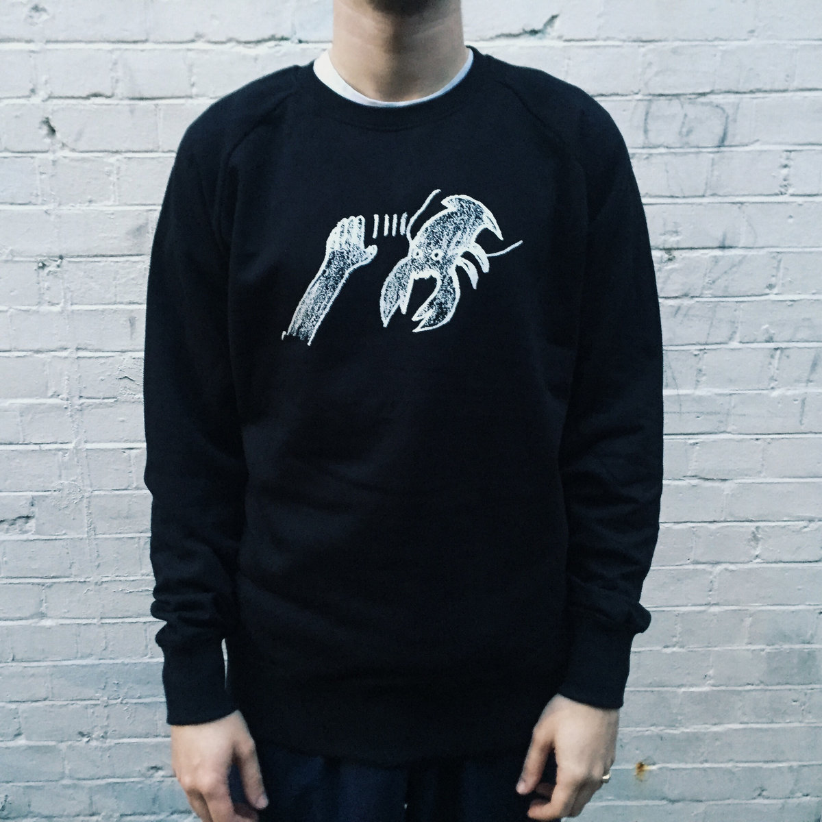 LOBSTER THEREMIN SWEAT-SHIRTS (DARK NAVY/Size:M)