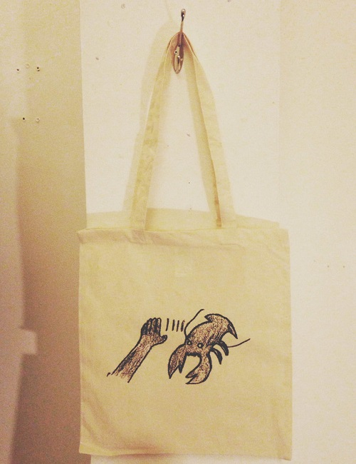 LOBSTER THEREMIN TOTE BAG (BEIGE)