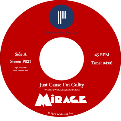 JUST CAUSE I'M GUILTY / CAN'T STOP A MAN IN LOVE (7 inch)
