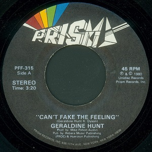 CAN'T FAKE THE FEELING (7 inch)