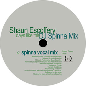 DAYS LIKE THIS (DJ SPINNA REMIXES)-RSD LIMITED-