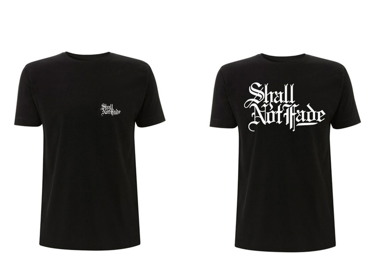 SHALL NOT FADE T-SHIRTS (BLACK:L size)
