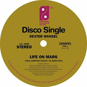 LIFE ON MARS (PAUL SIMPSON MIXES) -RSD LIMITED-
