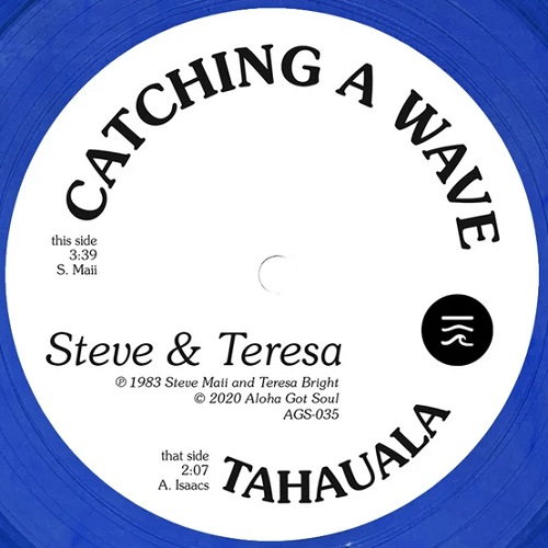 CATCHING A WAVE (CLEAR BLUE VINYL) (7 inch)