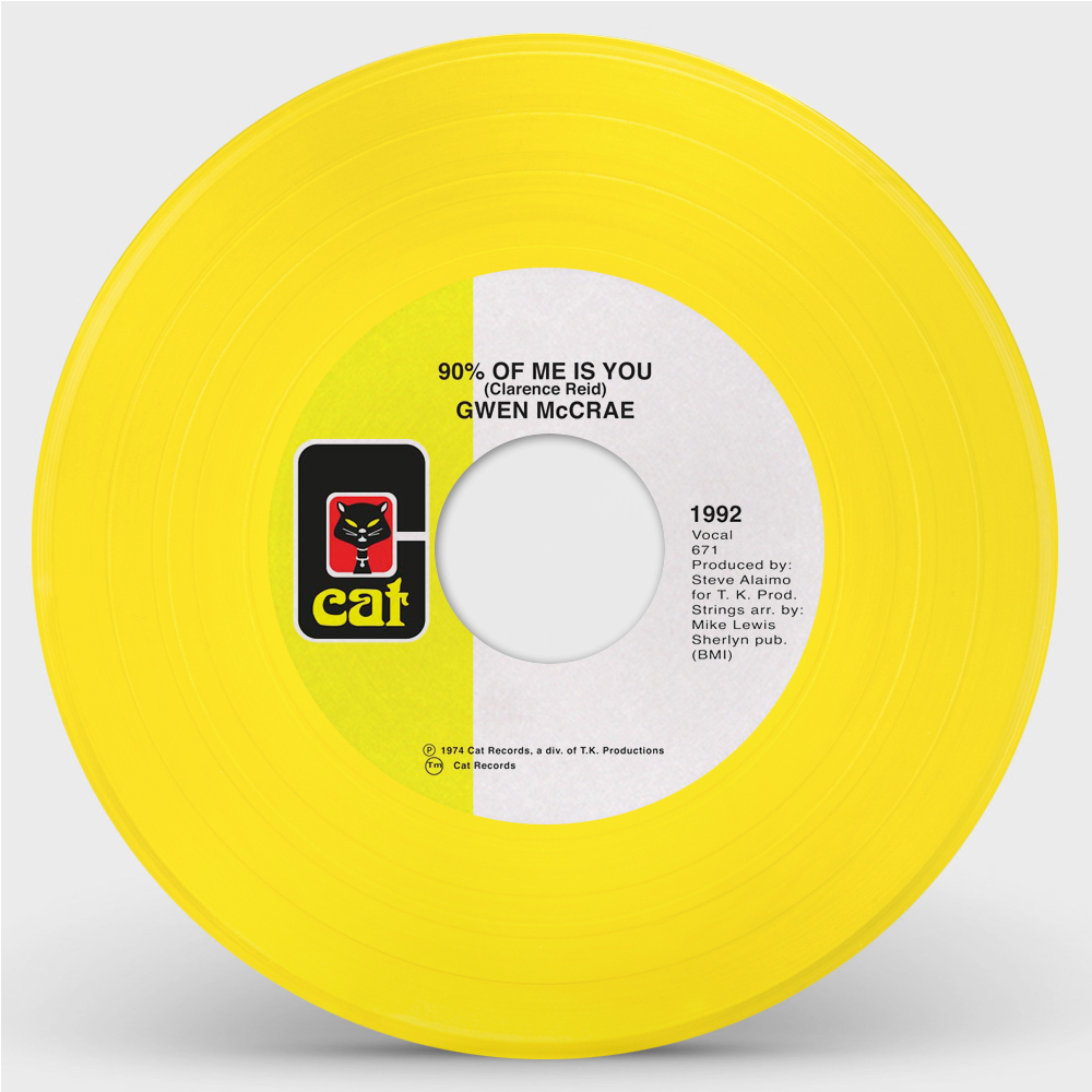 90% OF ME IS YOU (YELLOW VINYL REPRESS) (7inch) -pre-order-