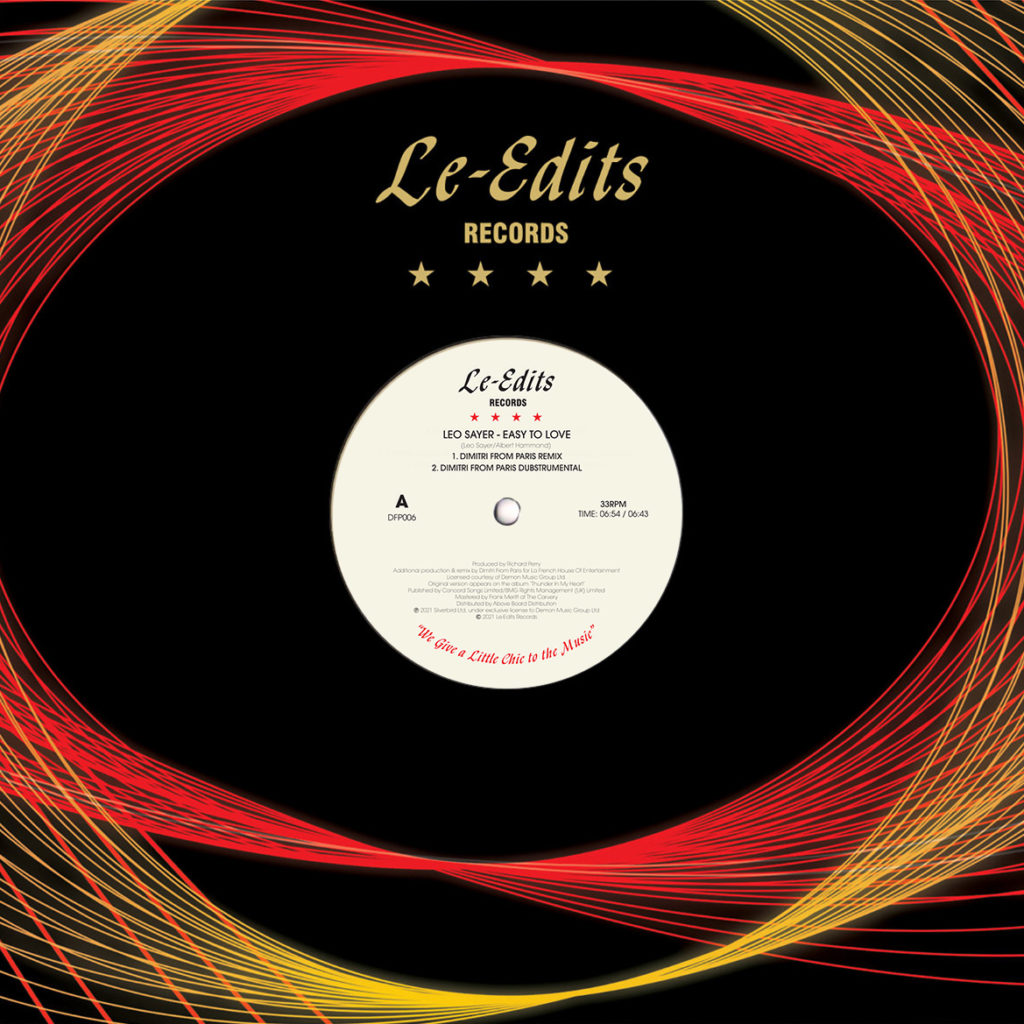 EASY TO LOVE / LET'S GO ROUND AGAIN (DIMITRI FROM PARIS REMIXES)
