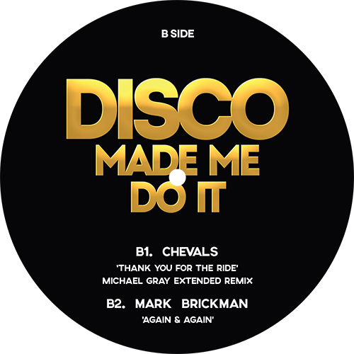 DISCO MADE ME DO IT - VOLUME 2 -pre-order-