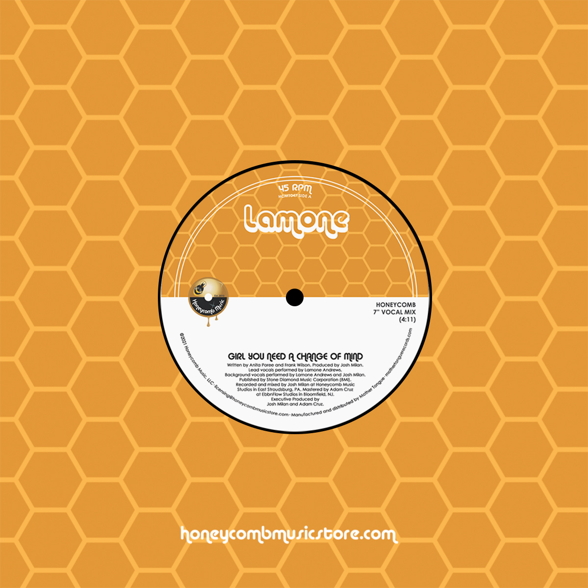 GIRL YOU NEED A CHANGE OF MIND (HONEYCOMB MIXES) (7inch) -pre-or