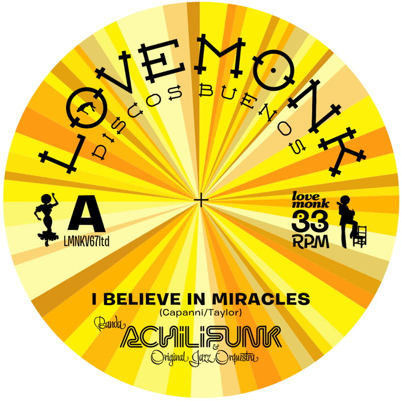 I BELIEVE IN MIRACLES LIMITED EDITION YELLOW VINYL (7inch) -pre-