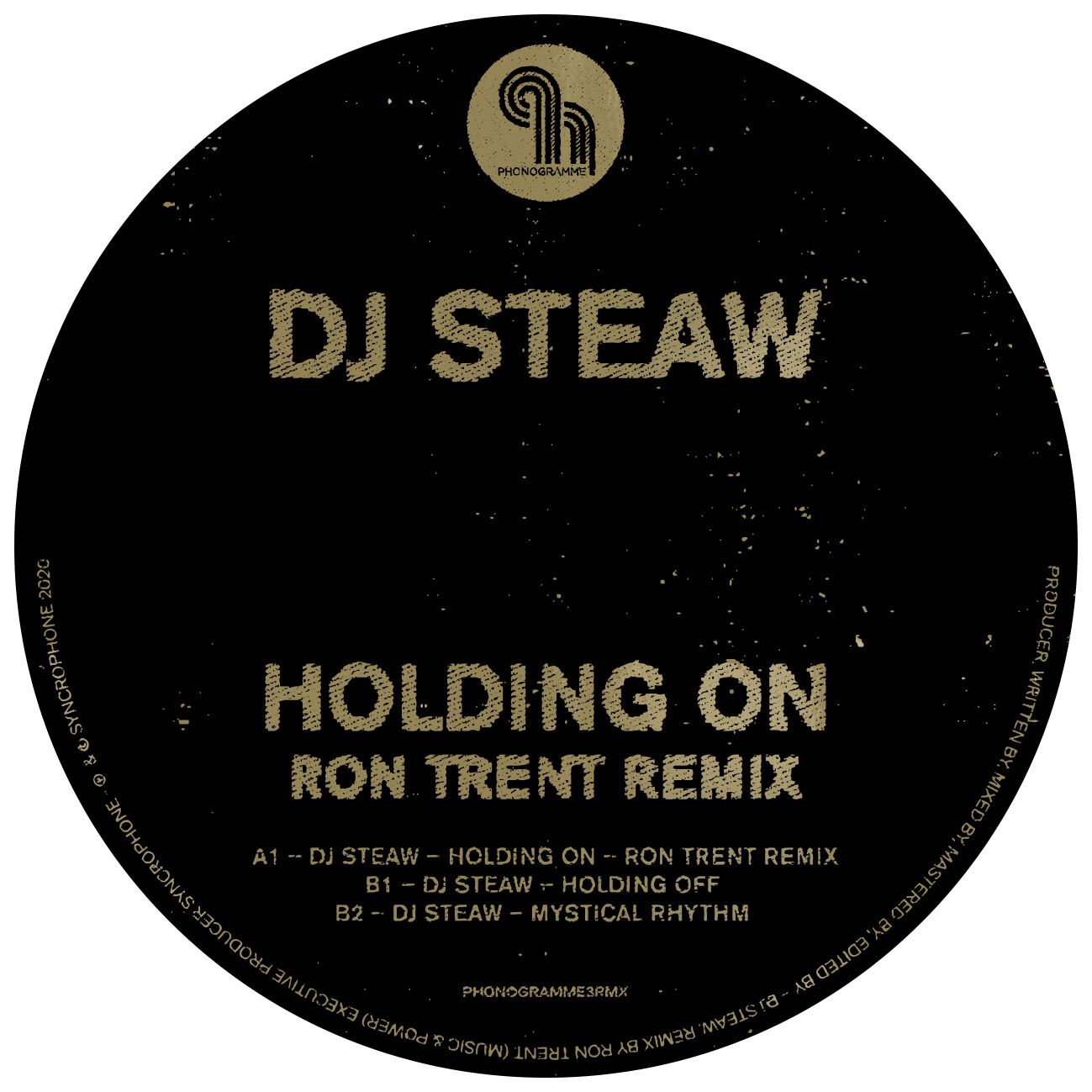 HOLDING ON RON TRENT REMIX -pre-order-