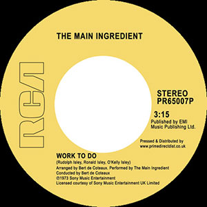 WORK TO DO / INSTANT LOVE (7inch) -RSD LIMITED-