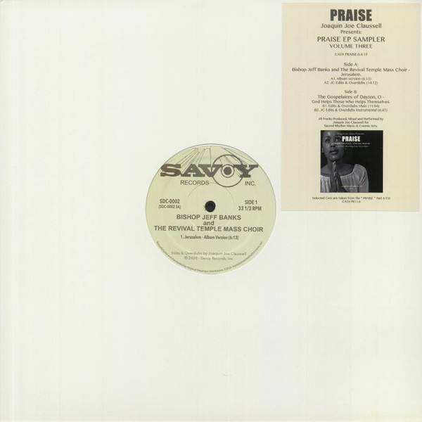 PRAISE EP SAMPLER VOLUME THREE