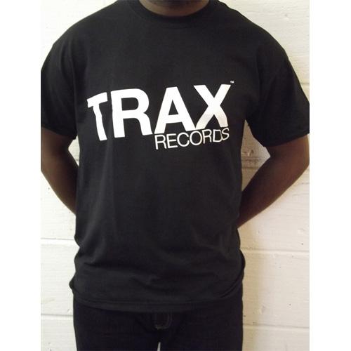 TRAX RECORDS T-SHIRTS (BLACK   L size)  TRAXTEEB-L  - VA - TRAX ... 084f3f64639