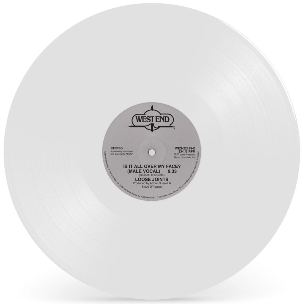 IS IT ALL OVER MY FACE? (WHITE VINYL REPRESS)